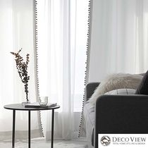 DECO VIEW Dots Plain Curtains