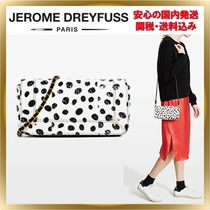 Jerome Dreyfuss Dots Chain Leather Elegant Style Shoulder Bags