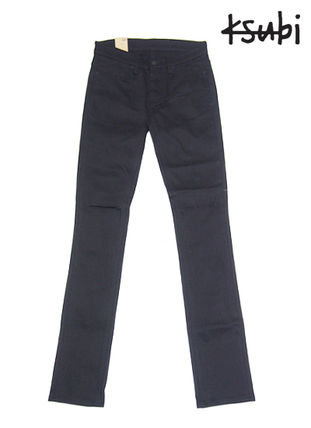 Street Style Plain Cotton Skinny Fit Jeans & Denim