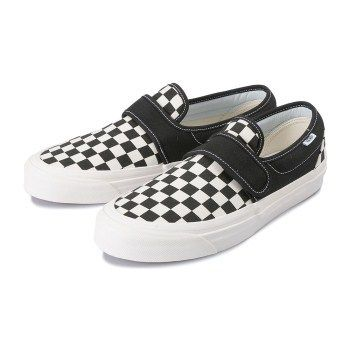 vans slip on shoes check