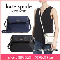 kate spade new york Plain Leather Elegant Style Shoulder Bags