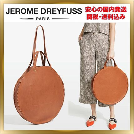 Unisex A4 2WAY Plain Leather Elegant Style Handbags