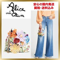 Alice+Olivia Flower Patterns Casual Style Shoulder Bags