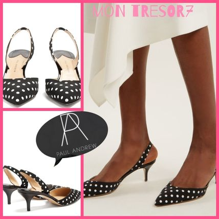 Dots Casual Style Heeled Sandals