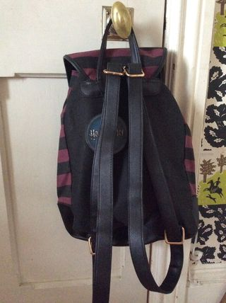 Stripes Casual Style Canvas Backpacks