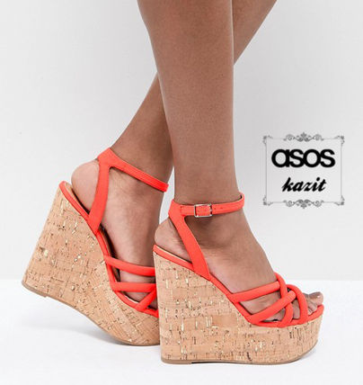 71c331d19dd ... Sandals 4 ASOS Platform   Wedge Casual Style Platform   Wedge ...