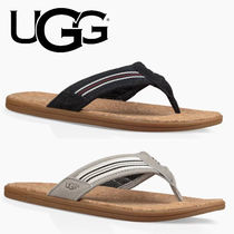 UGG Australia Stripes Blended Fabrics Bi-color Leather Sport Sandals