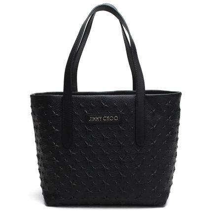 Star Casual Style Studded Leather Totes