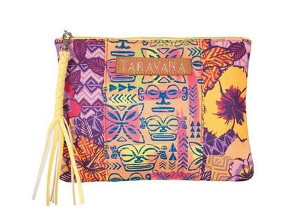 Tropical Patterns Casual Style Clutches