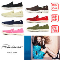 Rivieras Platform Plain Toe Casual Style Blended Fabrics Bi-color