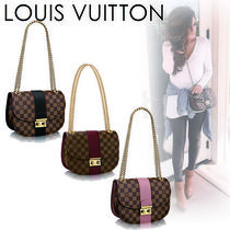 Louis Vuitton DAMIER Casual Style Canvas Blended Fabrics 2WAY Shoulder Bags
