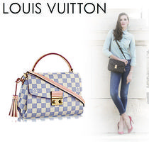 Louis Vuitton DAMIER AZUR Casual Style Canvas 2WAY Shoulder Bags
