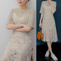Flower Patterns Casual Style Long Short Sleeves Dresses