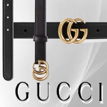 GUCCI Blended Fabrics Plain Leather Office Style Belts