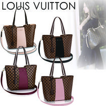 Louis Vuitton DAMIER Casual Style Canvas Blended Fabrics A4 2WAY Totes
