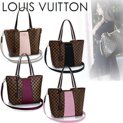Louis Vuitton Totes Casual Style Canvas Blended Fabrics A4 2WAY Totes