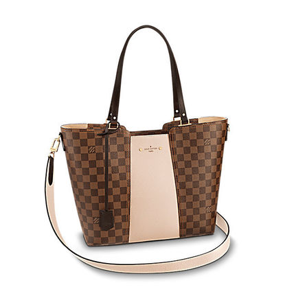 Louis Vuitton Totes Casual Style Canvas Blended Fabrics A4 2WAY Totes 2