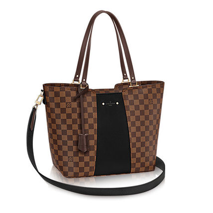 Louis Vuitton Totes Casual Style Canvas Blended Fabrics A4 2WAY Totes 7