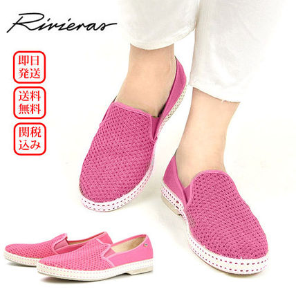 Platform Plain Toe Casual Style Blended Fabrics Bi-color