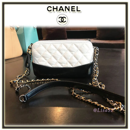2WAY Bi-color Chain Elegant Style Shoulder Bags