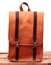 PAUL MARIUS Casual Style Bag in Bag Plain Leather Backpacks