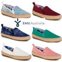 EMU Australia Platform Round Toe Casual Style Plain Lace-Up Shoes