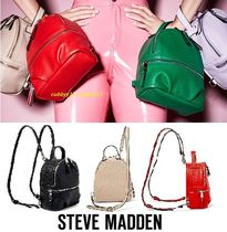 Steve Madden Casual Style Street Style 3WAY Plain Backpacks