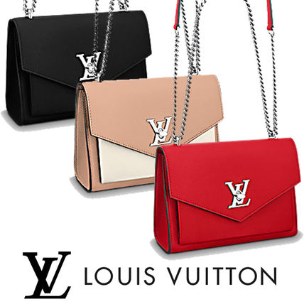 Louis Vuitton Shoulder Bags Leather Elegant Style