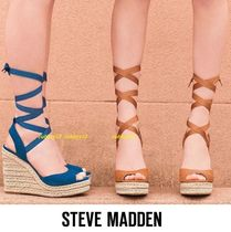 Steve Madden Open Toe Suede Blended Fabrics Plain Party Style