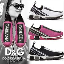 Dolce & Gabbana Casual Style Unisex Street Style Bi-color Low-Top Sneakers