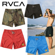 RVCA Camouflage Street Style Collaboration Plain Beachwear
