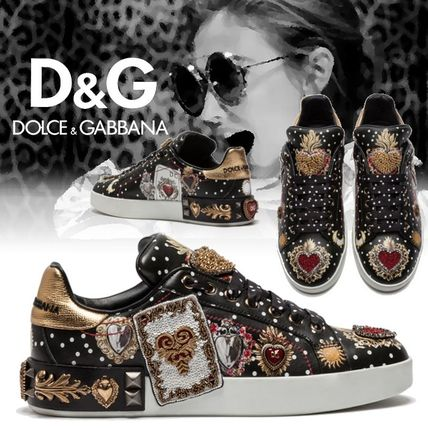 Heart Dots Casual Style Blended Fabrics Leather With Jewels