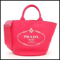 PRADA Casual Style Cambus Street Style 2WAY Plain Totes