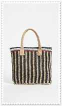HAT Attack Stripes Unisex A4 Straw Bags