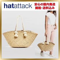HAT Attack Unisex A4 Plain Straw Bags
