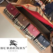 Burberry Other Check Patterns Lambskin Folding Wallets