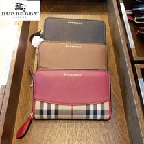 Burberry Other Check Patterns Lambskin Long Wallets