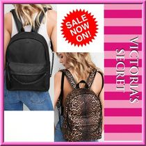 Victoria's secret Leopard Patterns Casual Style Nylon Street Style A4 Chain