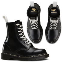 Dr Martens Plain Leather Mid Heel Boots
