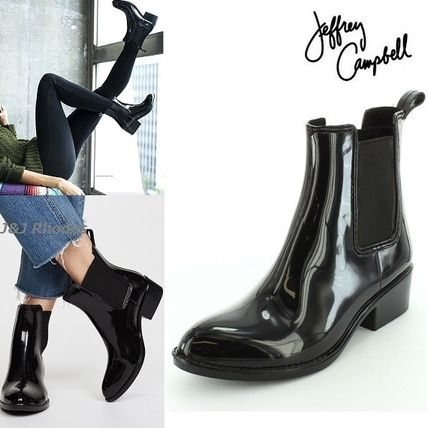 Plain Chelsea Boots PVC Clothing Ankle & Booties Boots
