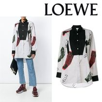 LOEWE Casual Style Blended Fabrics Long Sleeves Cotton Medium