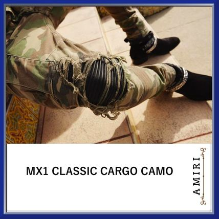 Camouflage Blended Fabrics Street Style Cotton