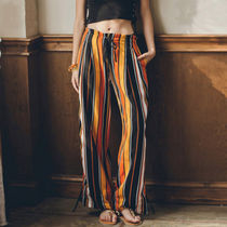 Stripes Casual Style Blended Fabrics Street Style Long