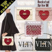 VALENTINO Studded 3WAY Chain Plain Leather Elegant Style Shoulder Bags