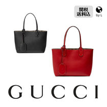 GUCCI Plain Leather Totes