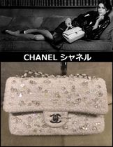 CHANEL TIMELESS CLASSICS Blended Fabrics 2WAY Chain Plain With Jewels Elegant Style