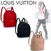 Louis Vuitton SORBONNE Casual Style 2WAY Plain Leather Backpacks