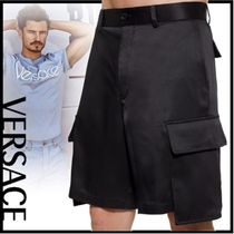 VERSACE Silk Plain Cargo Shorts