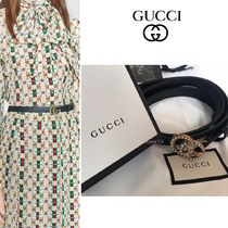 GUCCI Casual Style Street Style Plain Leather Belts