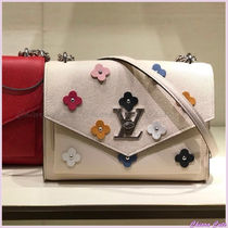 Louis Vuitton MY LOCKME  Flower Patterns Casual Style Blended Fabrics Studded Plain
